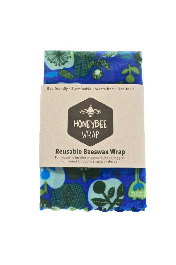 Beeswax food wrap medium with pattern