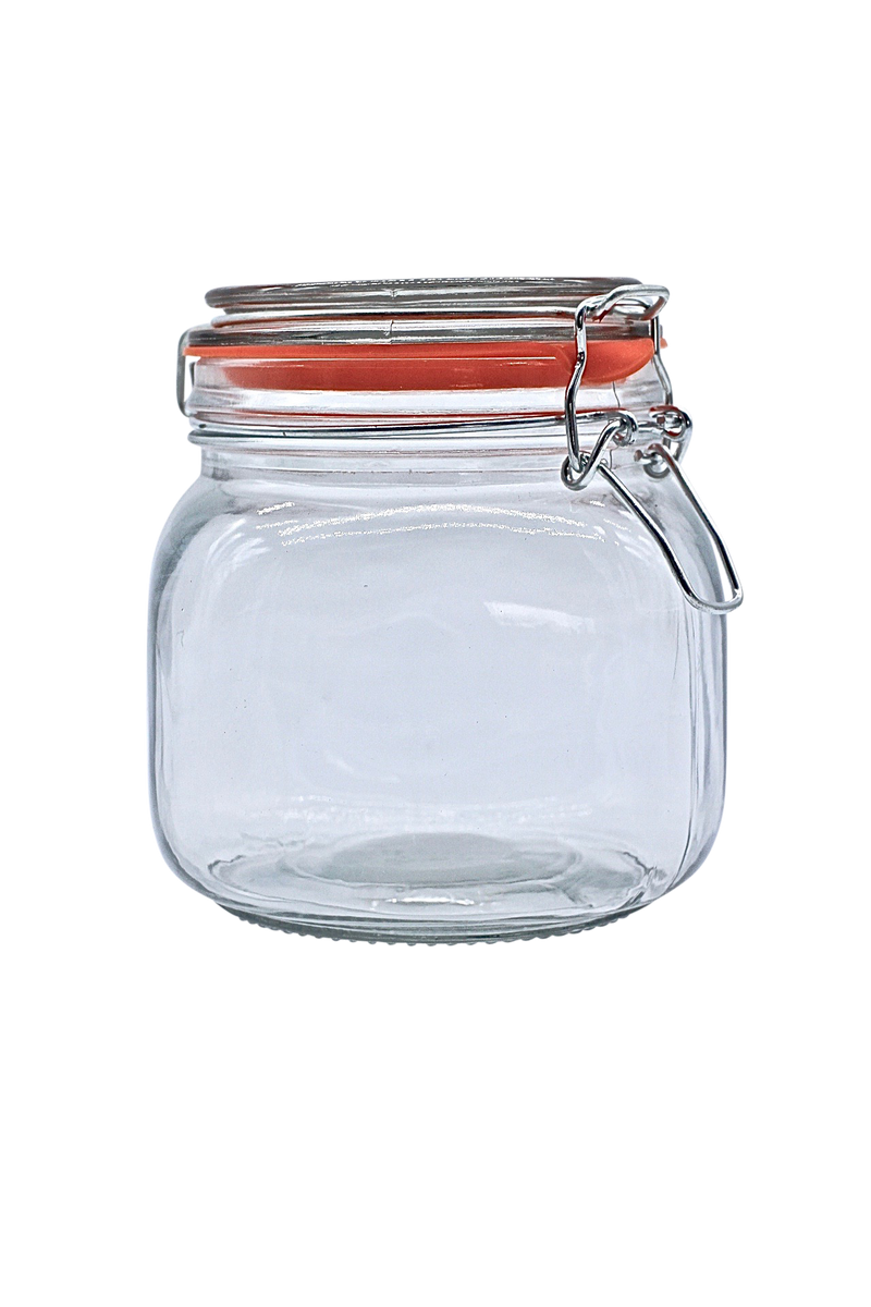 Sealable glass food storage jar 500ml