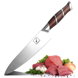 Imarku Chef Knife,8-Inch Kitchen Chef's Knife, High Carbon Stainless German Steel Knives With Ergonomic Handle for Home Kitchen and Restaurant