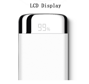 LUSSO Power Bank - 20,000 mAh Ultra Thin Power Bank for Charging Mobile Phones with LCD display