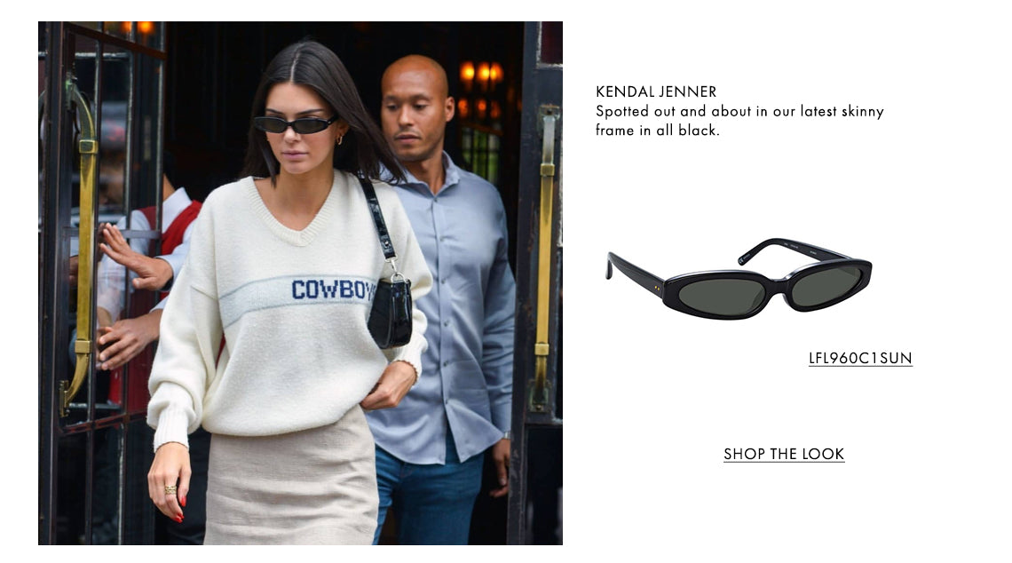 KENDAL JENNER Spotted out and about in our latest skinny frame in all black. LFL960C1SUN