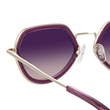 Dries Van Noten 186 C4 Angular Sunglasses