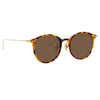 Linda Farrow Linear 02 C14 Oval Sunglasses