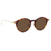 Linda Farrow Linear Arris C9 Oval Sunglasses