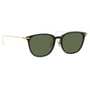 Linda Farrow Linear Wright A C8 Rectangular Sunglasses
