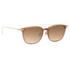Linda Farrow Linear Wright C12 Rectangular Sunglasses