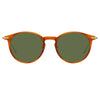 Linda Farrow Linear Chevron C8 Oval Sunglasses