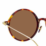 Linda Farrow Linear 9 C10 Round Sunglasses