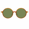 Linda Farrow Linear 9 C12 Round Sunglasses