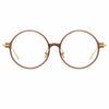 Linda Farrow Linear Savoye A C8 Round Optical Frame
