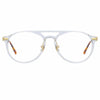 Linda Farrow Linear Ando A C4 Aviator Optical Frame