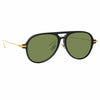 Linda Farrow Linear 24 C3 Aviator Sunglasses