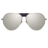Linda Farrow 785 C3 Aviator Sunglasses
