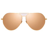 Linda Farrow Matheson C5 Aviator Sunglasses