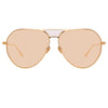 Linda Farrow Matheson C6 Aviator Sunglasses