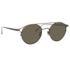 Linda Farrow Ali C4 Oval Sunglasses