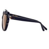 Linda Farrow Salma C4 Cat Eye Sunglasses