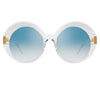 Linda Farrow Leighton C6 Oversized Sunglasses