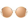 Linda Farrow Quarry C3 Round Sunglasses