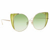 Linda Farrow 854 C10 Cat Eye Sunglasses