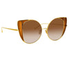 Linda Farrow Austin C2 Cat Eye Sunglasses