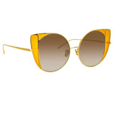 Linda Farrow Austin C3 Cat Eye Sunglasses