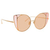 Linda Farrow Austin C8 Cat Eye Sunglasses
