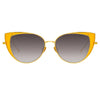 Linda Farrow Des Vouex C3 Cat Eye Sunglasses