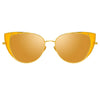 Linda Farrow Des Vouex C4 Cat Eye Sunglasses