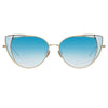Linda Farrow Des Vouex C7 Cat Eye Sunglasses