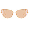Linda Farrow Des Vouex C8 Cat Eye Sunglasses
