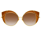 Linda Farrow 856 C2 Cat Eye Sunglasses