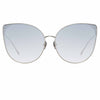 Linda Farrow Flyer C7 Cat Eye Sunglasses