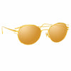 Linda Farrow Cradle C1 Oval Sunglasses