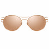 Linda Farrow Cradle C3 Oval Sunglasses
