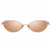Linda Farrow Violet C3 Cat Eye Sunglasses