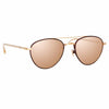 Linda Farrow Brodie C5 Aviator Sunglasses