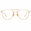 Linda Farrow Auguste C3 Aviator Optical Frame