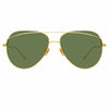 Linda Farrow 975 C2 Aviator Sunglasses