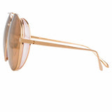Linda Farrow Ace C4 Aviator Sunglasses