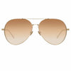 Linda Farrow 992 C5 Aviator Sunglasses