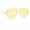 Linda Farrow 992 C6 Aviator Sunglasses