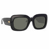 Linda Farrow Lavinia C1 Rectangular Sunglasses