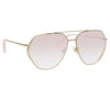 Matthew Williamson Lotus C4 Aviator Sunglasses