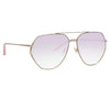 Matthew Williamson Lotus C5 Aviator Sunglasses