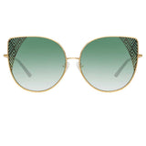 Matthew Williamson Orchid C3 Oversized Sunglasses