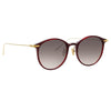 Linda Farrow Linear Gray A C11 Oval Sunglasses