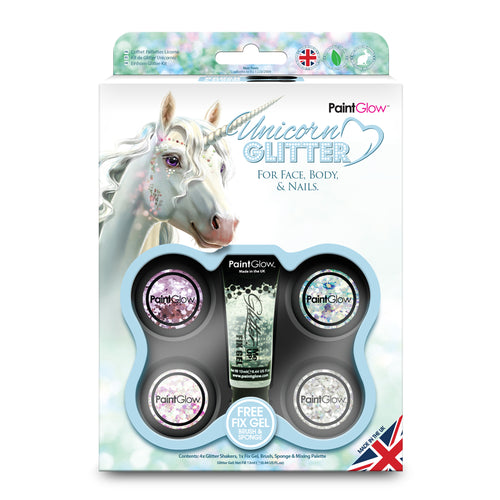Unicorn Chunky Cosmetic Glitter Multi-Pack