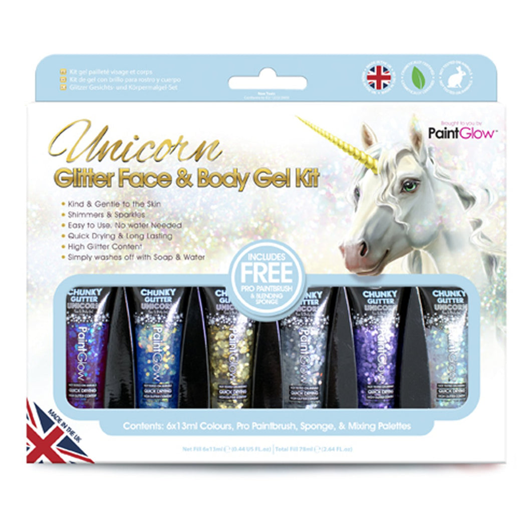 Unicorn Glitter Face & Body Gels Kit
