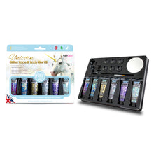 Load image into Gallery viewer, Unicorn Glitter Face & Body Gels Kit